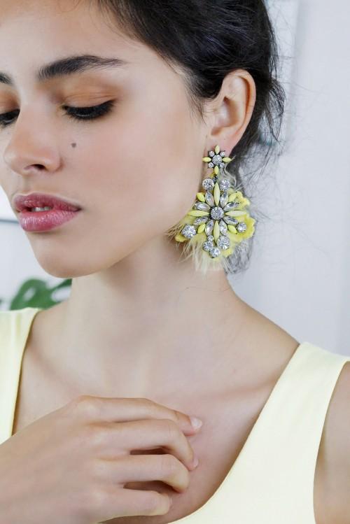 Earrings luxury yellow