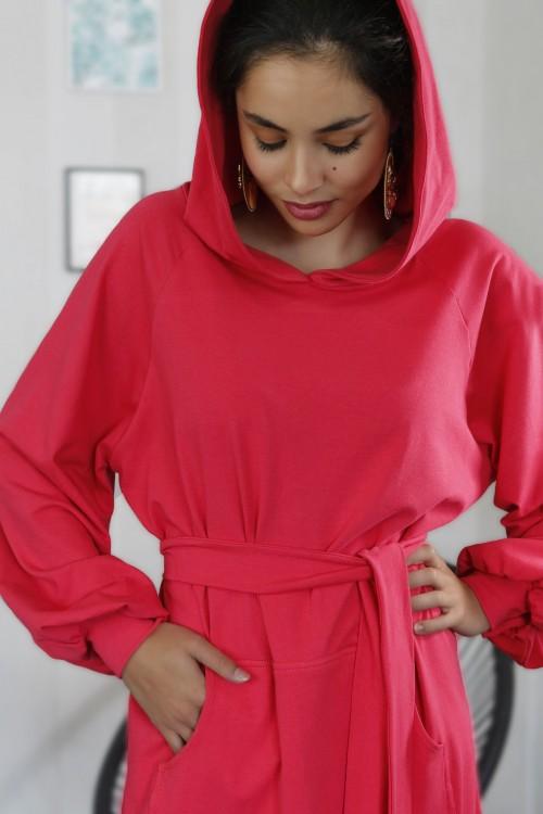 Mikinové šaty IKA/ ružová