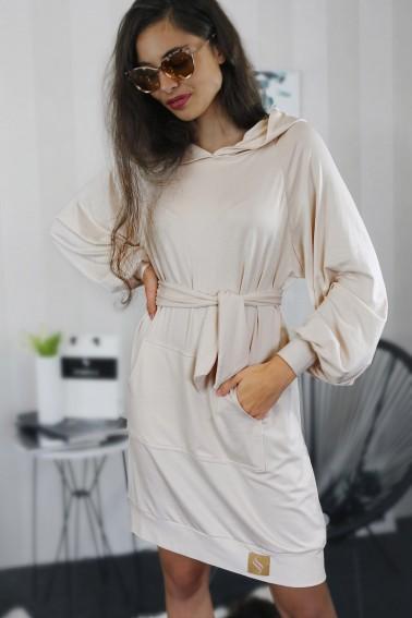 Mikinové šaty IKA/ béžová