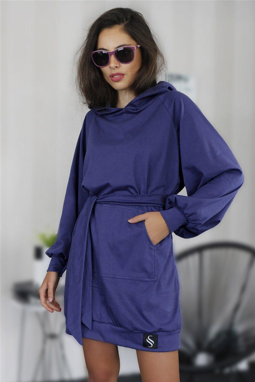 Mikinové šaty IKA/fialová