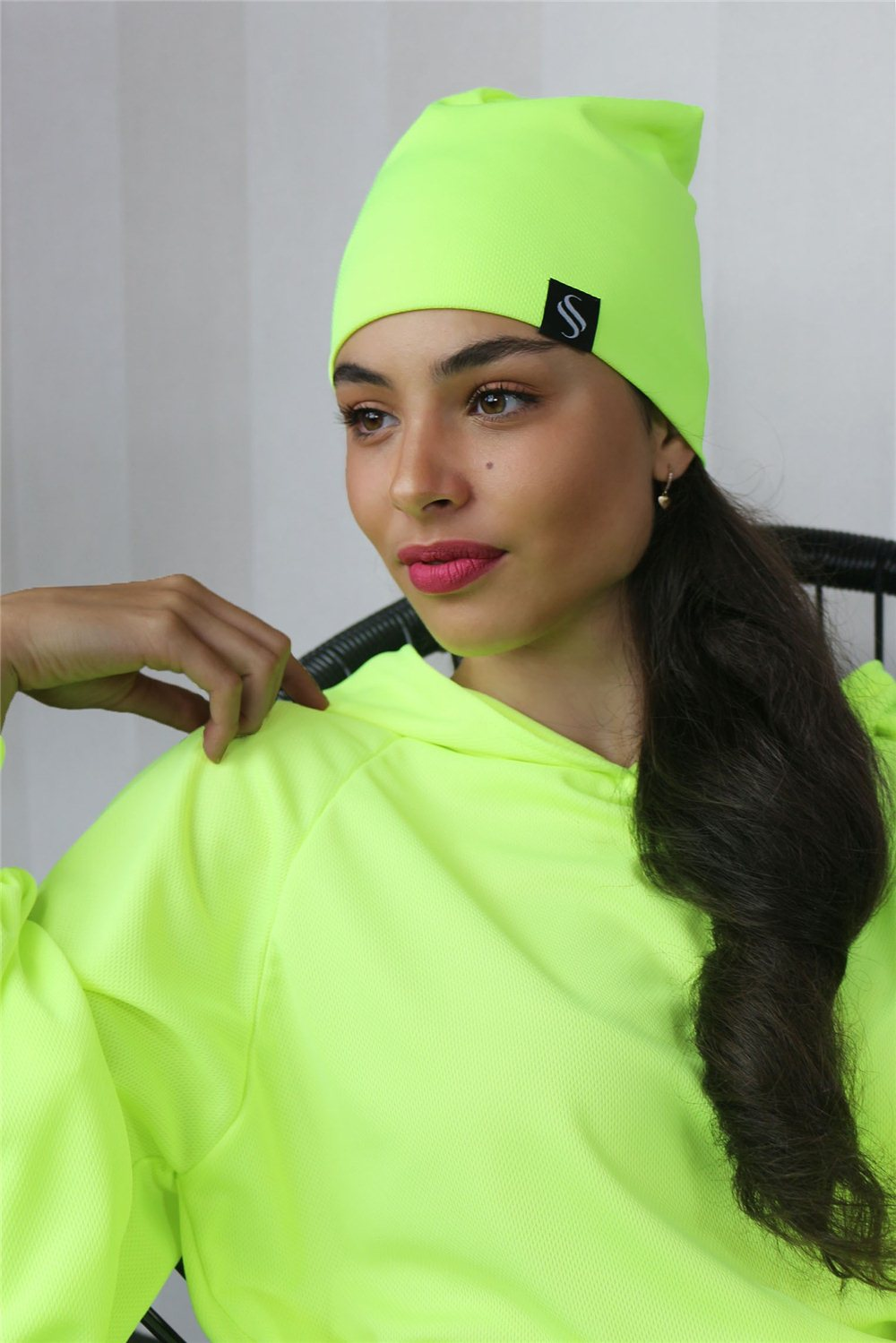 Čiapka Oli/neon, žltá