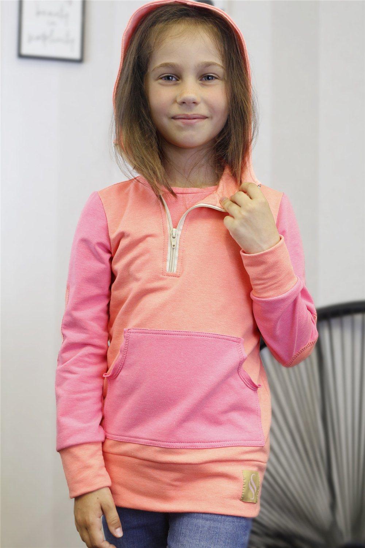 Dievčenská mikina Lea/ružová