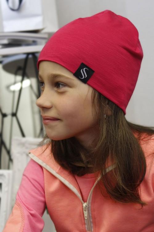Detská čiapka Kame/malinová
