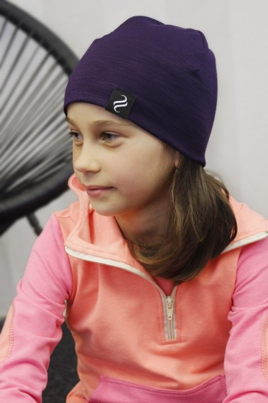 Detská čiapka Kame/fialová
