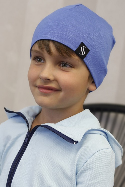 Detská čiapka Kame/bledomodrá