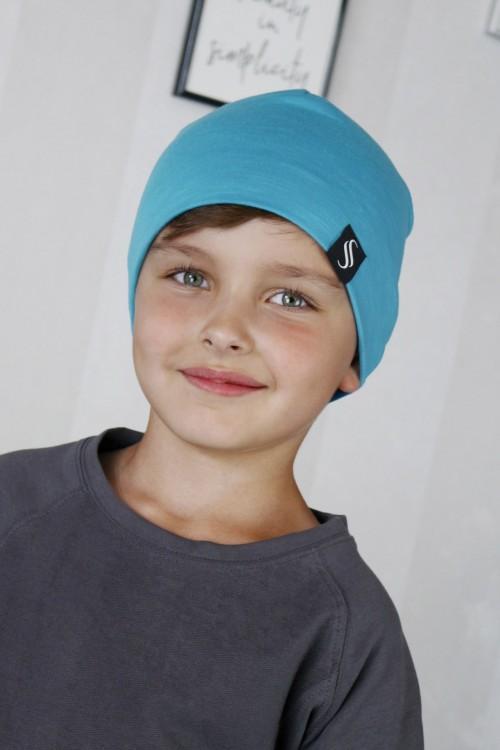 Detská čiapka Kame/tyrkysová