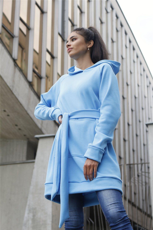 Mikinové šaty IKA/ modrá
