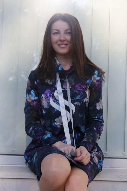 MIkinové šaty Sandra/ modrá