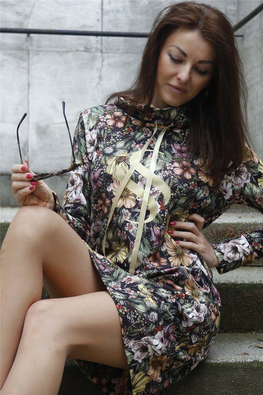 Mikinové šaty Selena/ zlatá