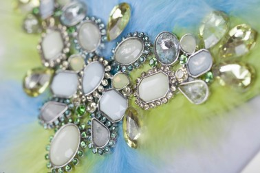 Elegant earrings blue