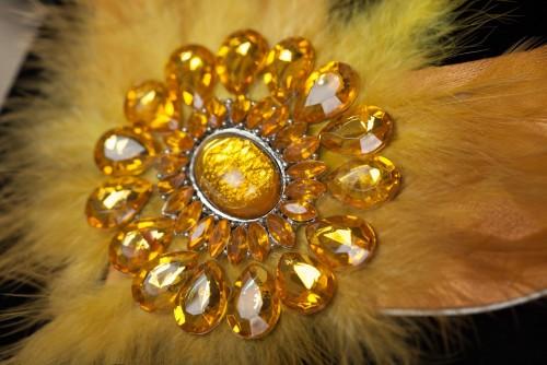 náhrdelník zlato-žltý