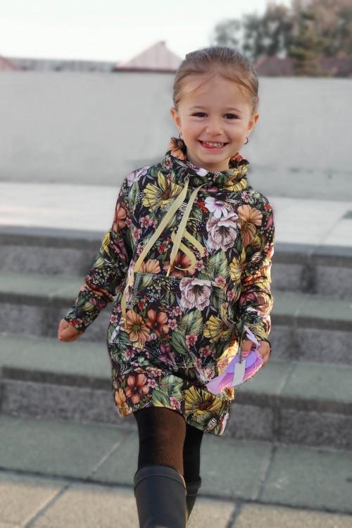 Detská predĺžená mikina Selena / zlatá