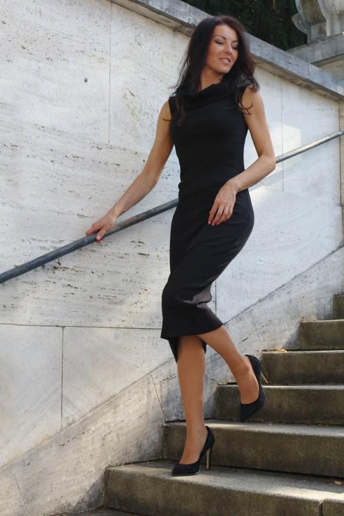Midi šaty Chiara/ čierne