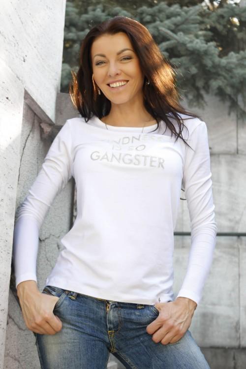 Bavlnený nátelník Gangster/ silver