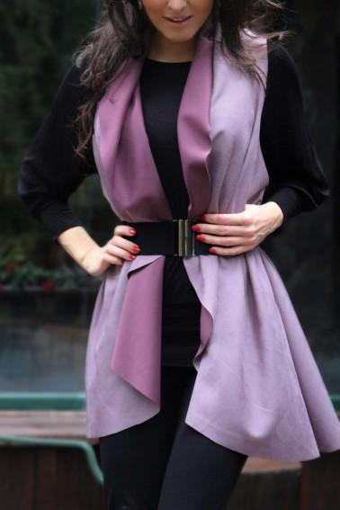Jelenicová vesta jemná purpura
