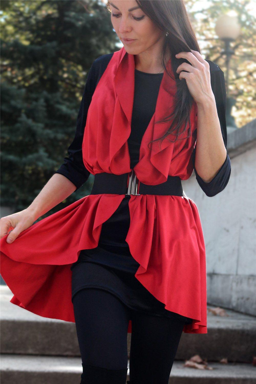 jelenicová vesta červená