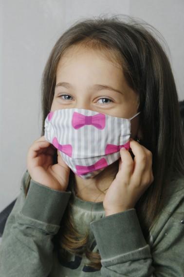 Detské bavlnené rúška - mašličky