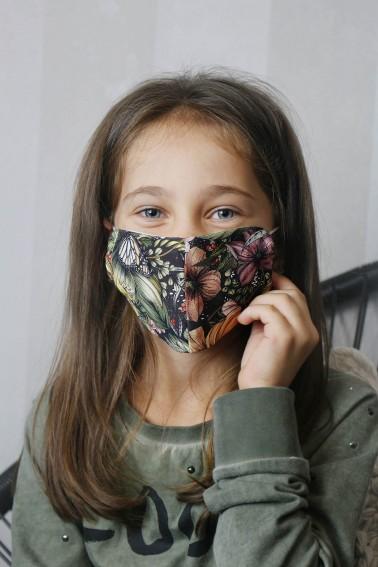 Detské bavlnené rúška - kvietky