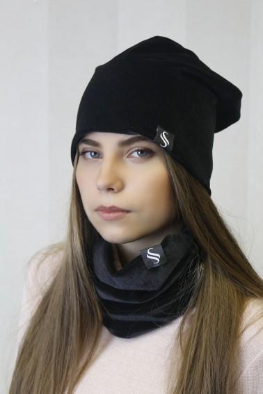 Darčekový zamatový set - čiapka + nákrčník