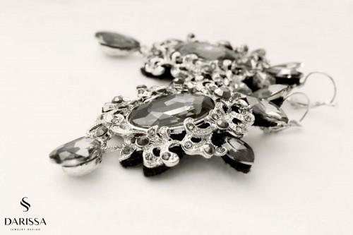 Náušnice elegant sivé